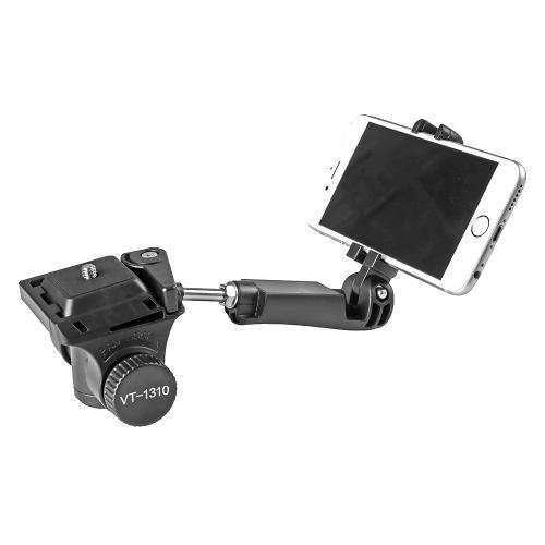 Kingjoy Stativkopf VT-1310 mit Smartphone-Halter